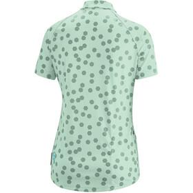 Gonso Lilo Fietsshirt Korte Mouwen Halve Rits Dames, mist green
